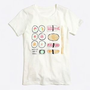 J.Crew Factory Collector Sushi Tee sz M